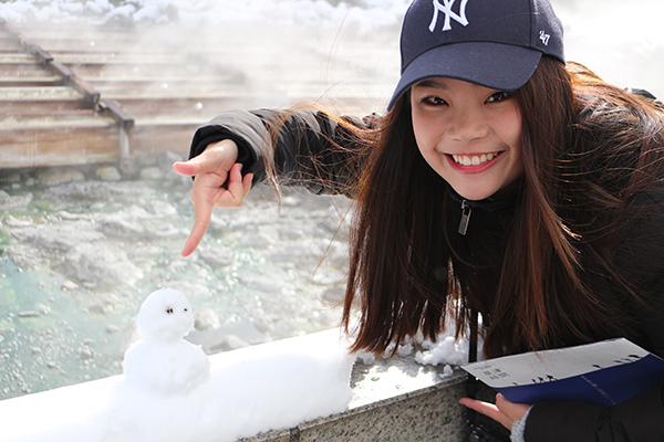 冬の草津温泉